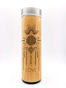 17.9oz LOVE Bamboo Tumbler