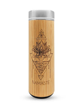 Load image into Gallery viewer, 17.9oz NAMASTE Bamboo Tumbler