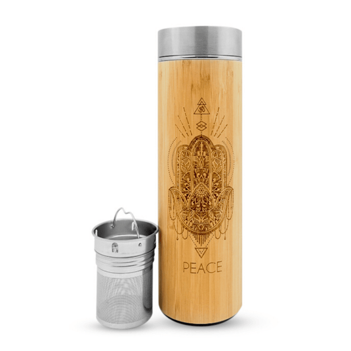 16.9oz PEACE Bamboo Tumbler|bhavana-bottle