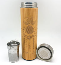 Load image into Gallery viewer, 16.9oz GRATITUDE Bamboo Tumbler