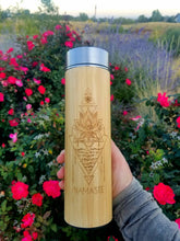Load image into Gallery viewer, 16.9oz NAMASTE Bamboo Tumbler