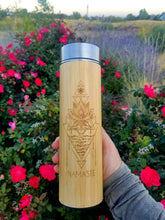 Load image into Gallery viewer, 16.9oz NAMASTE Bamboo Tumbler V2