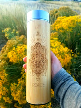 Load image into Gallery viewer, 16.9oz PEACE Bamboo Tumbler