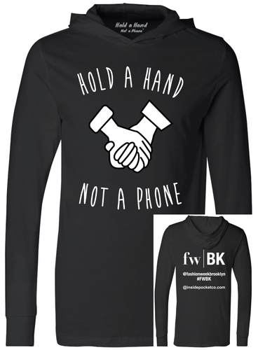 Unisex Long Sleeve Jersey Hooded Tee - FWBK Edition (Black or Grey)