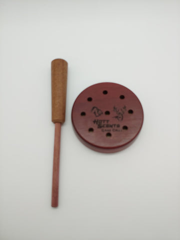 Purple Heart slate turkey call with built in soundboard