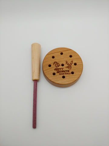 Cherry slate turkey call with built in soundboard
