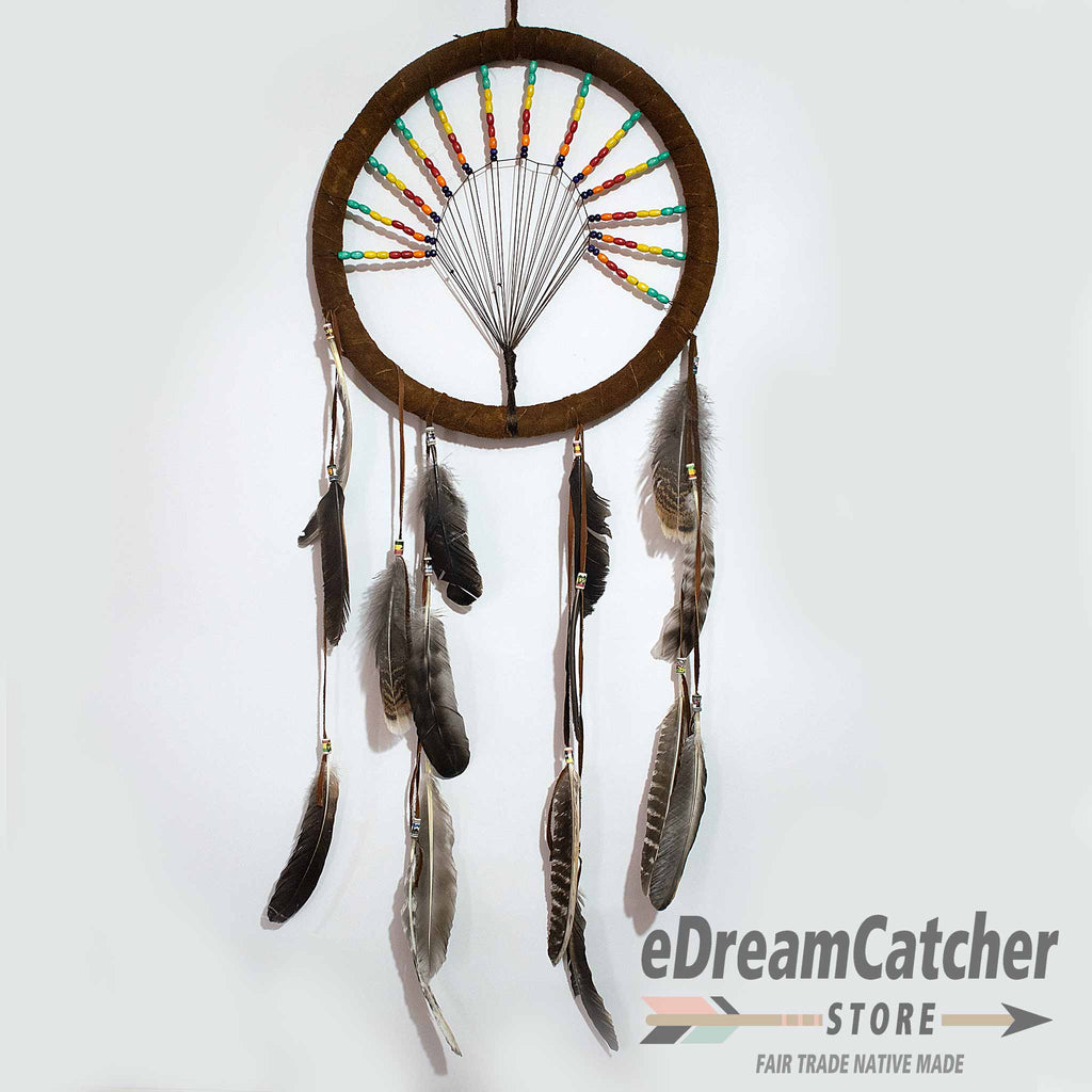 Tree of Life Leather Dreamcatcher 12 inch