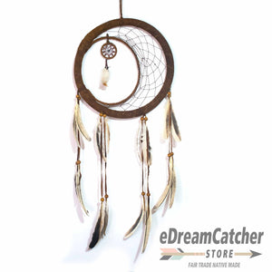 Half Moon Leather Dreamcatcher 12 inch