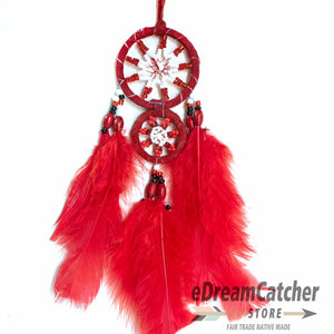 Mother & Child Leather Dreamcatcher 2 inch
