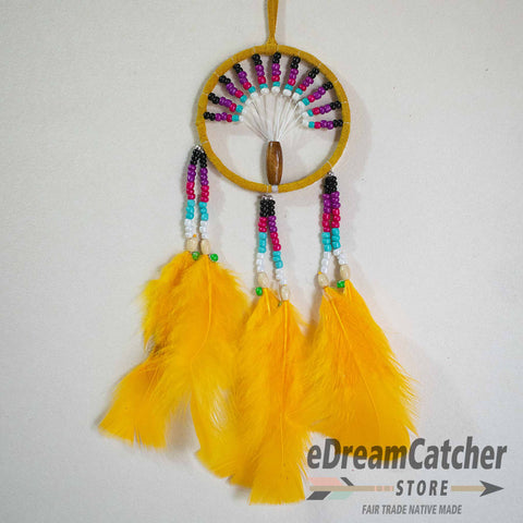 Tree of Life Leather Dreamcatcher 3 inch