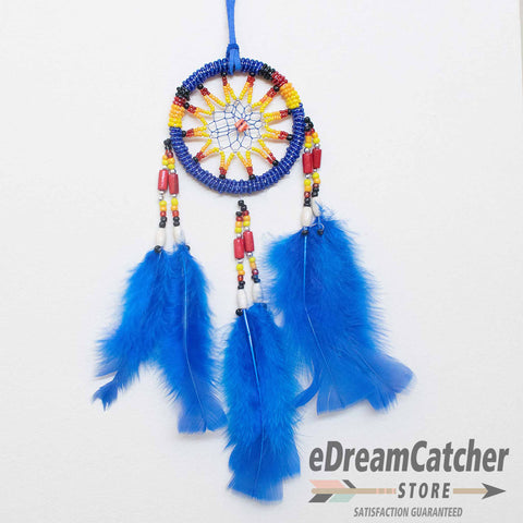 Beaded 11 Spoke Dreamcatcher 3 inch