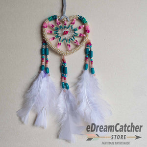 Heart Beaded Dreamcatcher 3 inch