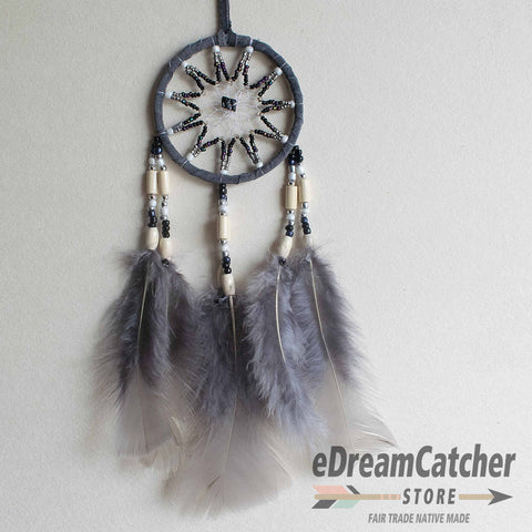 Image of Leather Dreamcatcher 3 inch