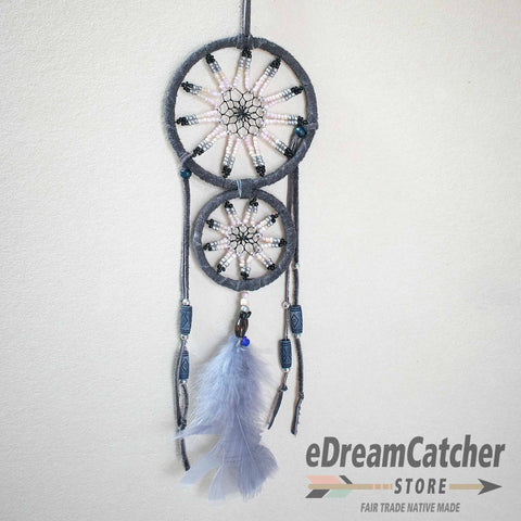 Mother & Child Leather Dreamcatcher 3 inch