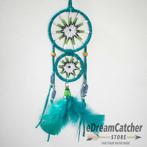 Image of Mother & Child Leather Dreamcatcher 3 inch
