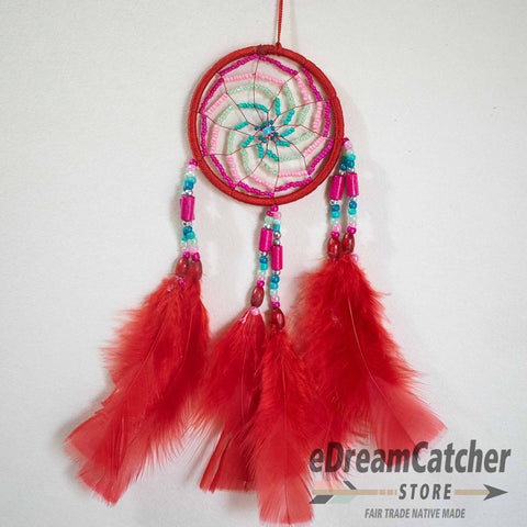 Image of Solar Spiral Thread Dreamcatcher 3 inch