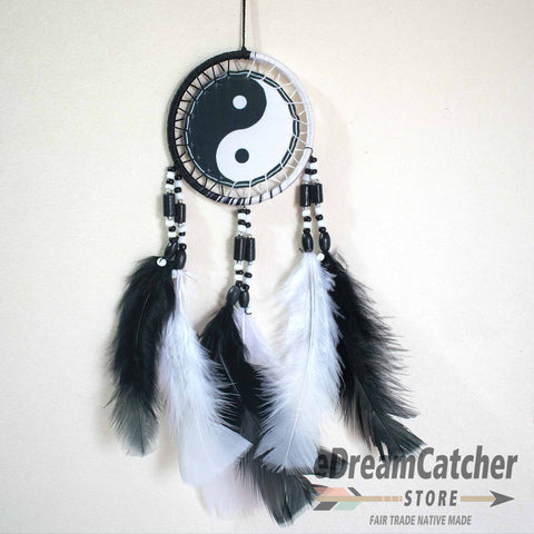 Image of Yin Yang Thread Dreamcatcher 3 inch