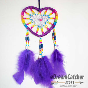 Heart Beaded Dreamcatcher 4 inch