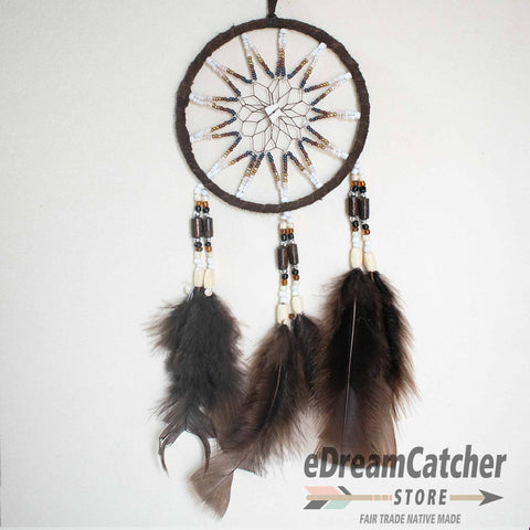 Leather Dreamcatcher 4 inch