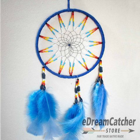 Image of Leather Dreamcatcher 6 inch