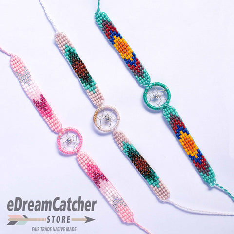 Image of Beaded Dreamcatcher Bracelet