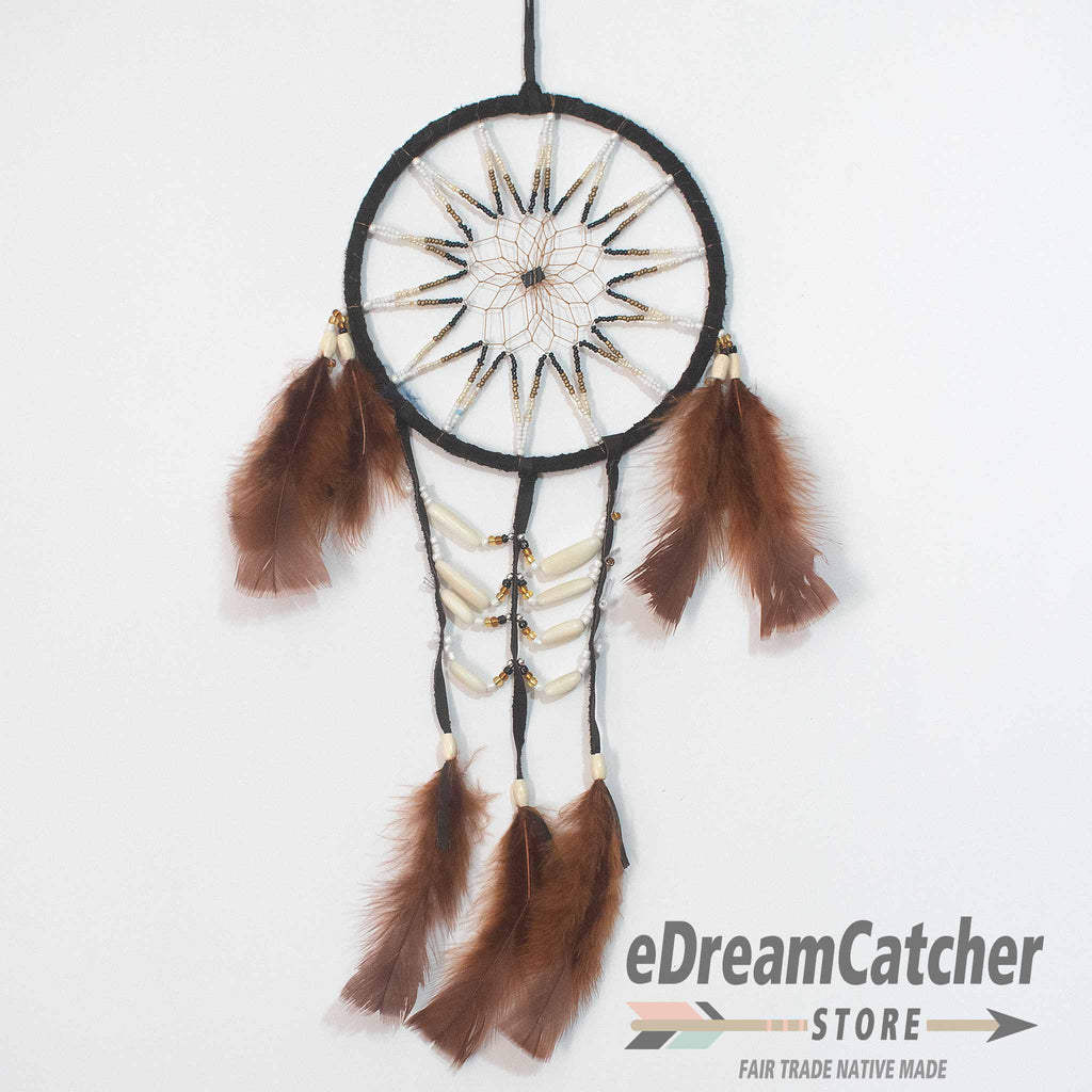 Breast Plate Leather Dreamcatcher 6 inch