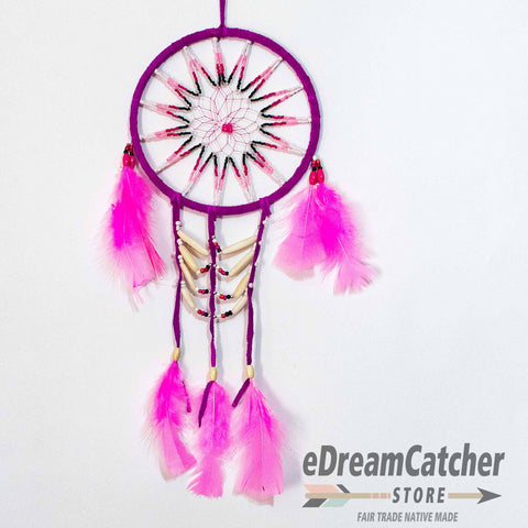 Image of Breast Plate Leather Dreamcatcher 6 inch