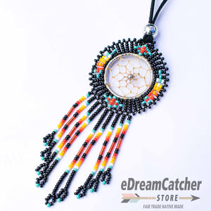 Beaded Dreamcatcher Necklace