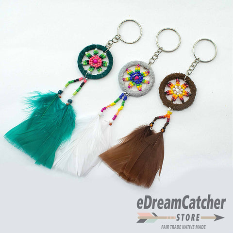 Leather Dreamcatcher Key Chain