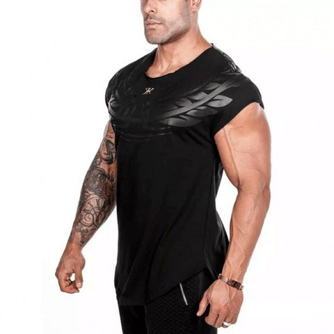 Gym T-Shirt For Men - BULKING - Gold / Black - Gym Workout Shop