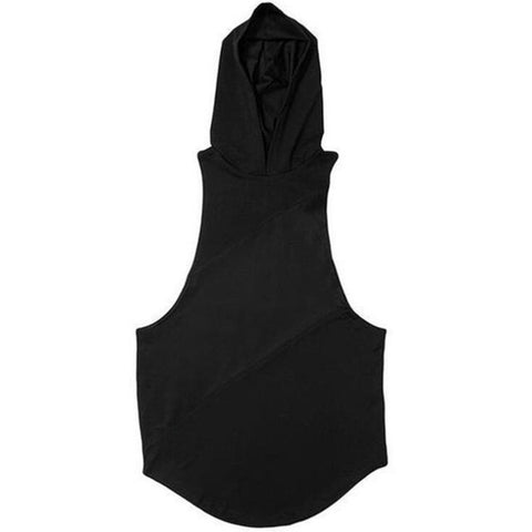 Sleeveless Workout Hoodie - CUT OFF - Gym Workout Shop