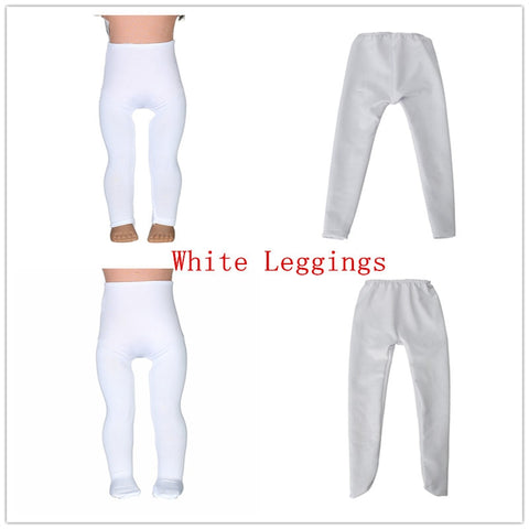 62dc5d351de16 2 color White Leggings Tight Pants Fit 18 Inches American Doll Baby Doll  Clothes Accessories Handmade