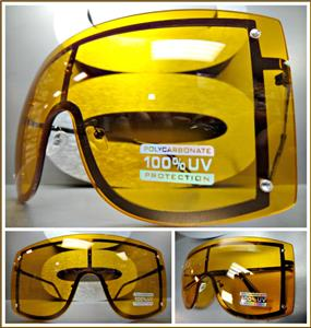 f029717bf3 Oversized Visor  Shield Style Sunglasses- Orange Lens