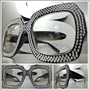da5d0069a3 Sparkling Bling Square Clear Lens Glasses- Black Frame – SAAK EYEWEAR