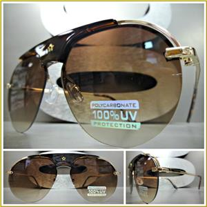 f176a8ee38 Round Aviator Style Sunglasses- Brown Lens