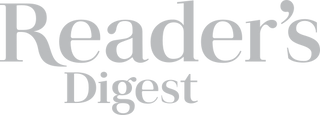 Reader's digest logo in grey. Petite clothing