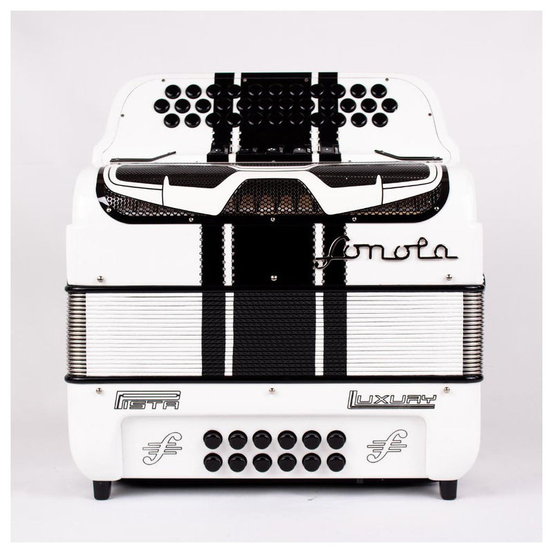 Sonola Pista Lux Accordion 5 Switches GCF White with Black