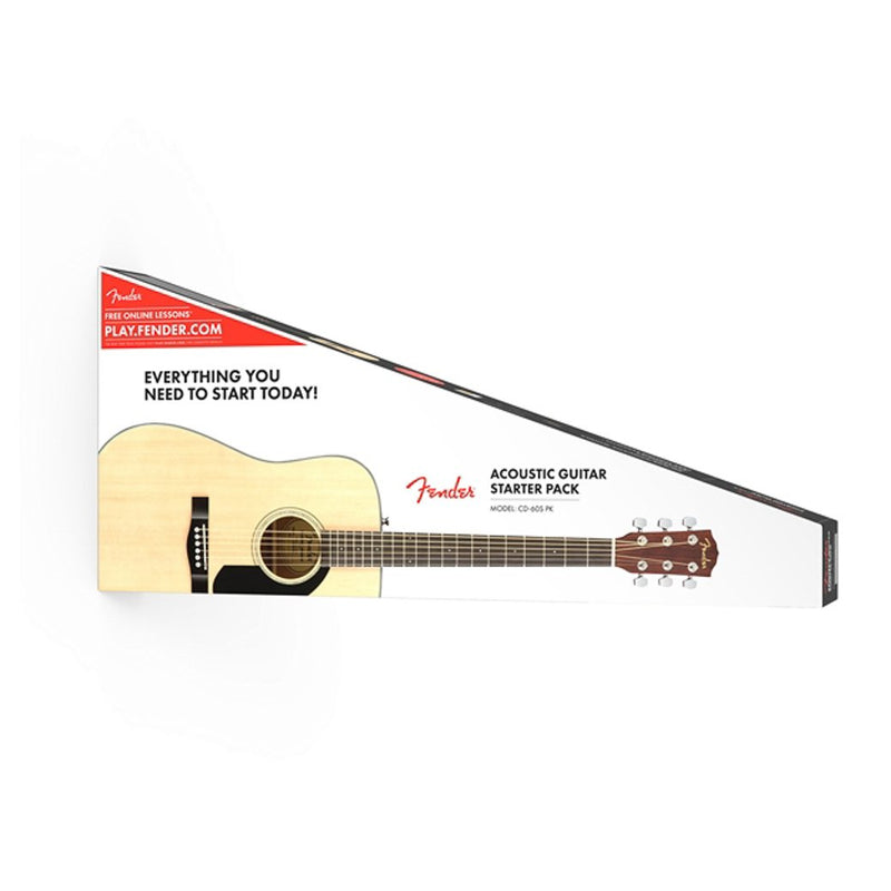 Fender CD-60S Acoustic Dreadnought Guitar Pack