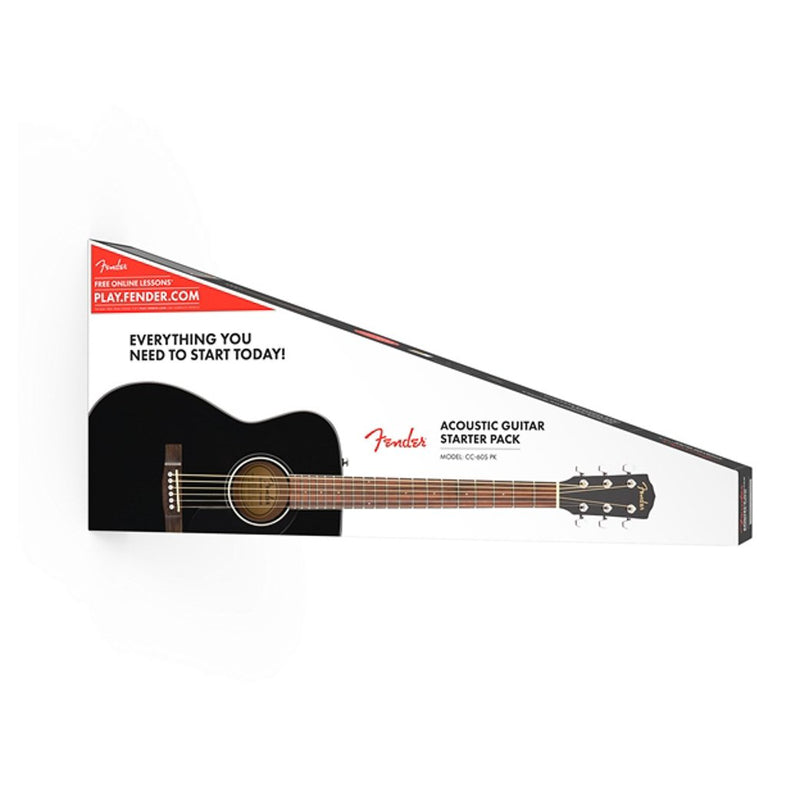 Fender CC-60S Acoustic Concert Guitar Pack