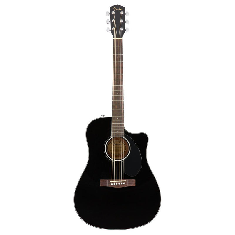 Fender CD-60SCE Acoustic/Electric Dreadnought Black Guitar