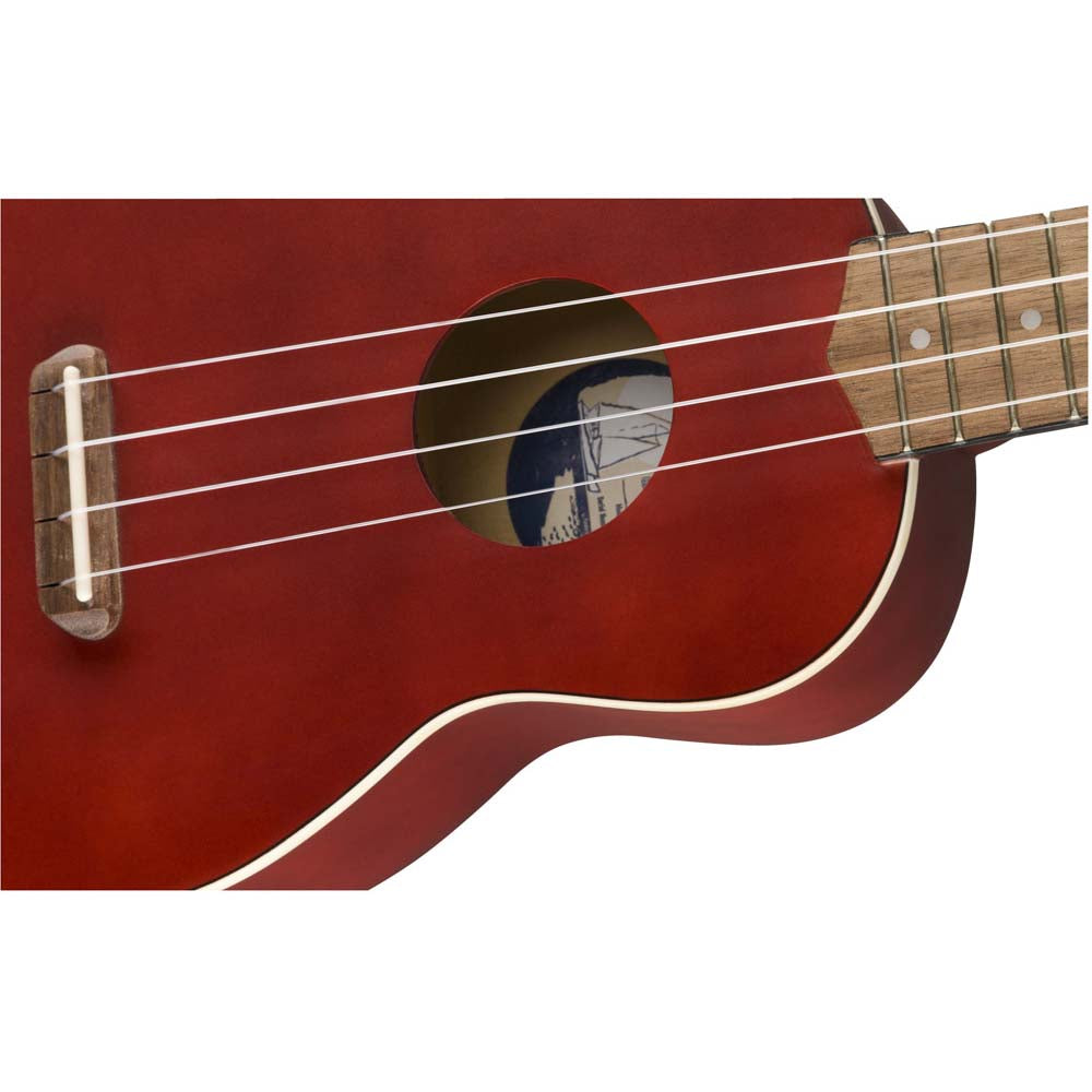 Fender Venice Soprano Ukulele Cherry Red