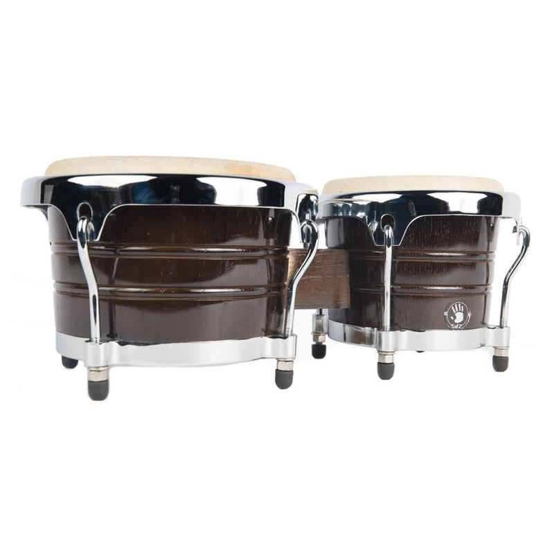 "5D2 BG500 Bongos 7.5"" Y 8.5"" Chrome Hardware - Black"
