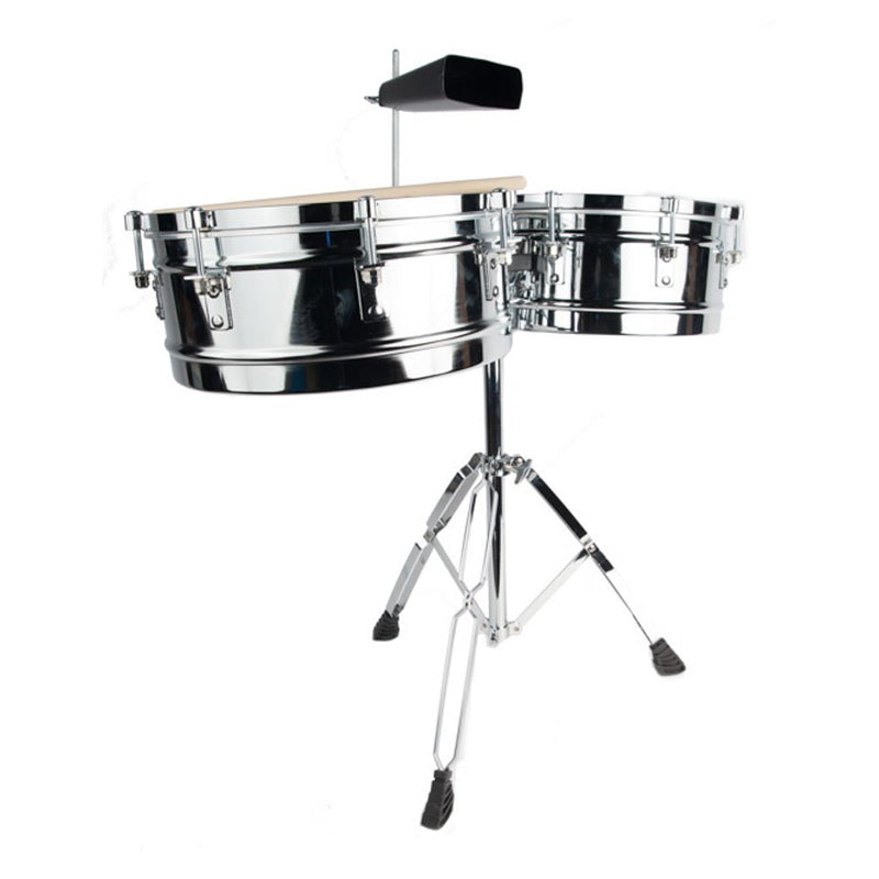 5D2 Set of Timbales With Cowbell and Stand