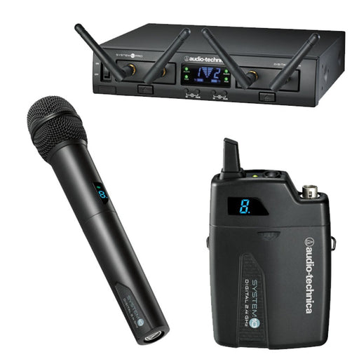 Audio Technica System 10 Wireless Microphone Dual Combination Transmitter And Microphone