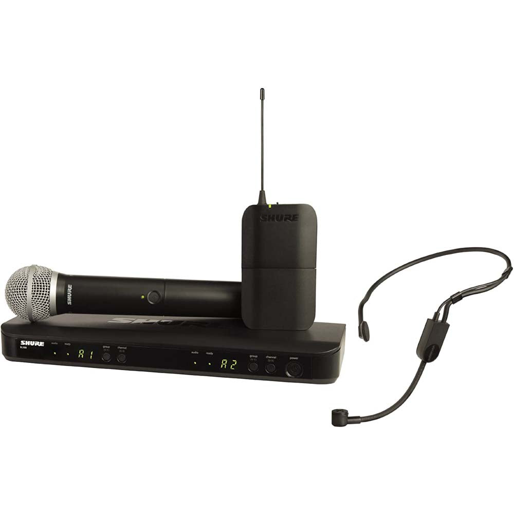 Shure BLX1288/PGA31 Dual-Channel Wireless Combo Headset & Handheld Microphone System