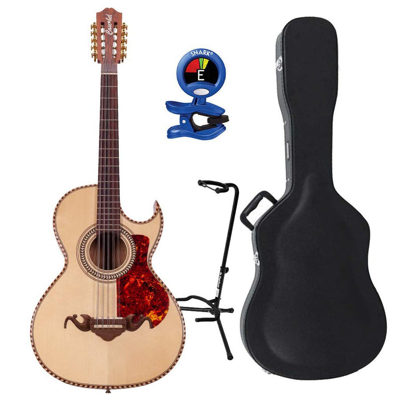 Cascabel Bajo Quinto Palo Escrito with Locked Machinery with Hard Case, Stand, and Tuner