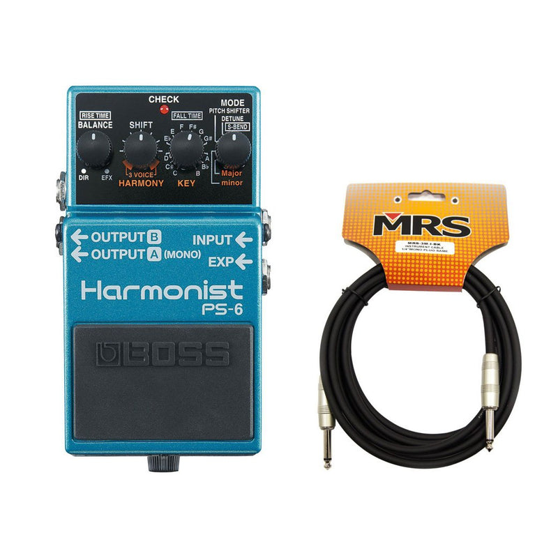 Harmonist PS-6 BOSS Effects Pedal with Cable
