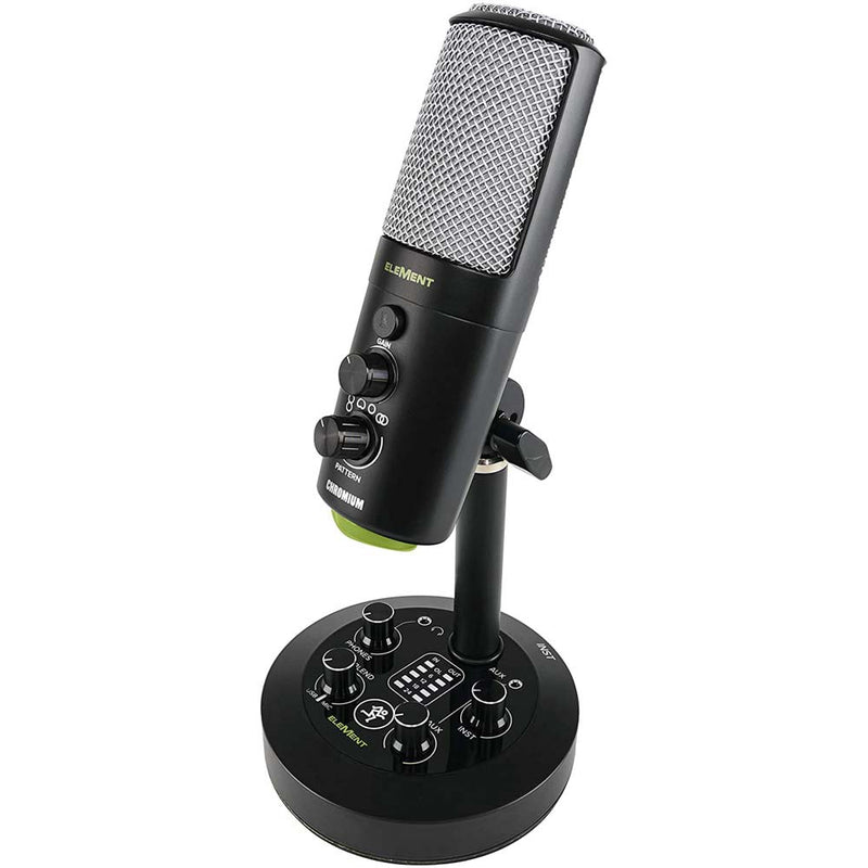 Mackie EM-CHROMIUM USB Condenser Microphone with 2-channel Mixer