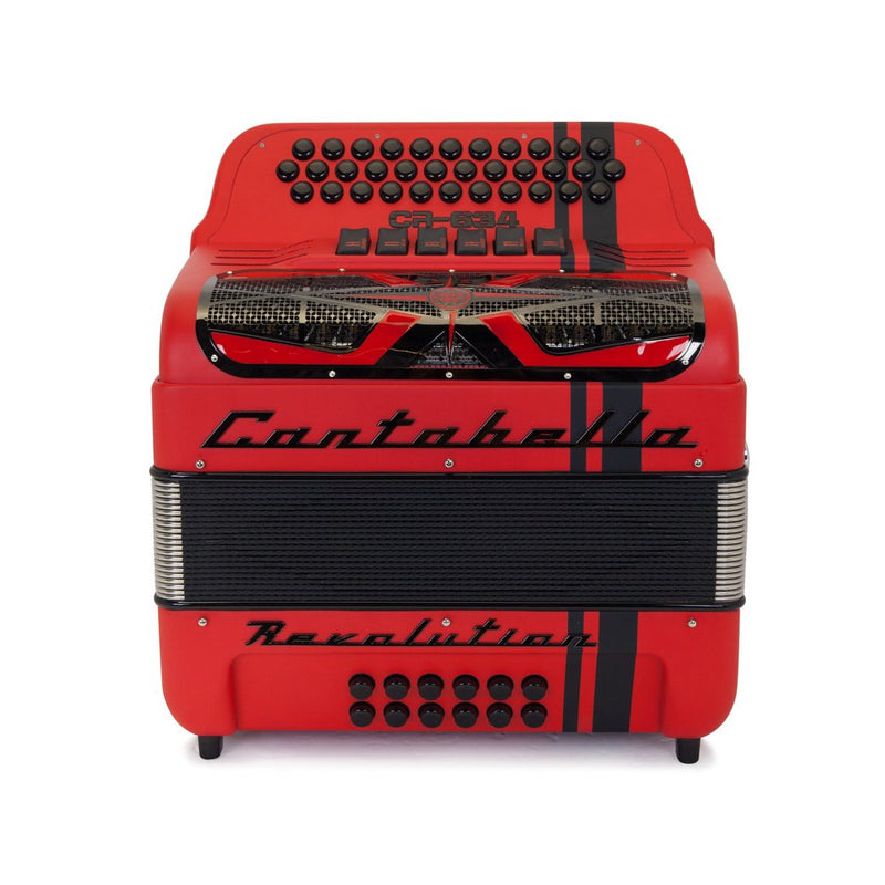 Cantabella Revolution 634 FBE and EAD Matte Red- 2 Tone 6 Switches