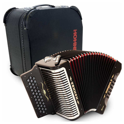 Hohner Corona II Xtreme FBE Black with Deluxe Case